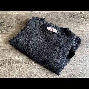$298 Filson Heavy 100% Wool Guide Sweat Dark Grey